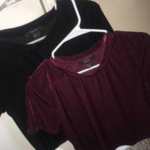 suede black and burgundy shirt .